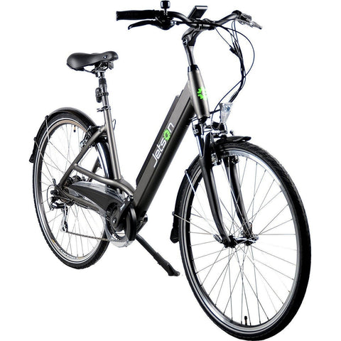 Black Jetson Cruiser Electric Bike - Front View