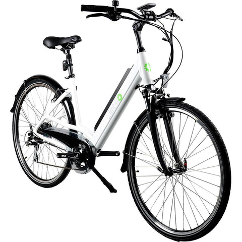 White Jetson Cruiser Electric Bike - Front View
