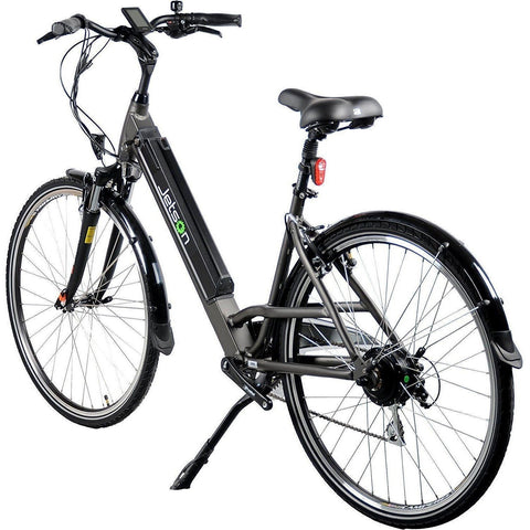 Gun Metal Jetson Electric Bikes - Rose - Rear View