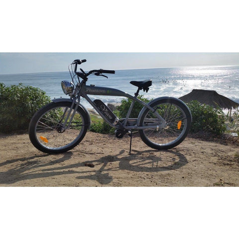 Phantom Bikes Vision - Old School Electric Cruiser Bike - On top of a mountain hike