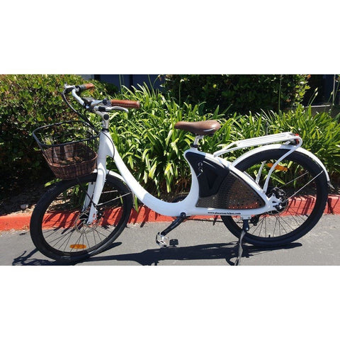 Phantom Swirl - Old School Cruiser Electric Bike - Side View