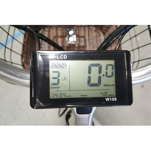 Phantom Swirl - Old School Cruiser Electric Bike - Display