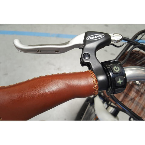 Phantom Swirl - Old School Electric Cruiser Bike - Handle and brake