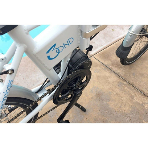 White Platinum E-BIKES 3OND - Folding Electric Bike - Gear System