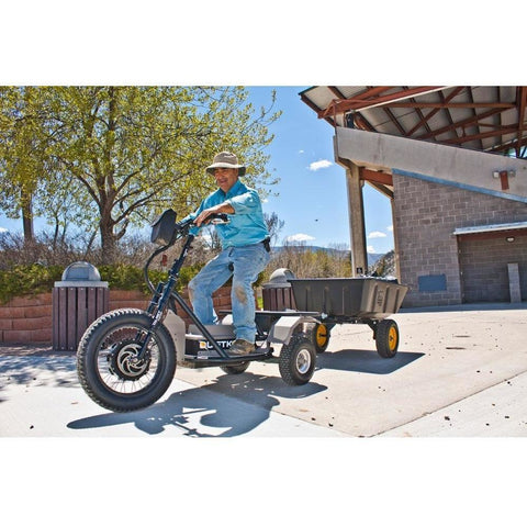 QuietKat Prowler AP - 60V Electric Trike - In the backyard