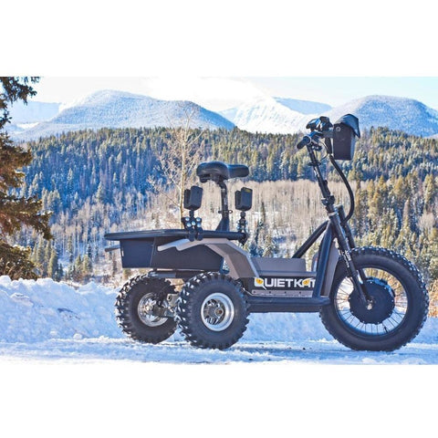 QuietKat Hunter AP - 48V Electric Trike in the snow