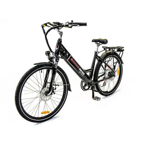Black Shocke Bikes Ampere - Electric Bike Commuter - Front View