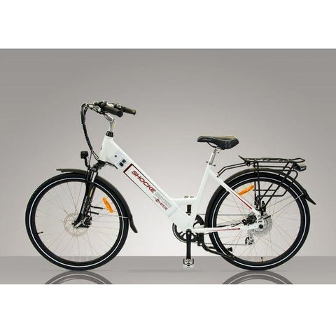 White Shocke Bikes Ampere - Electric Bike Commuter - Side View