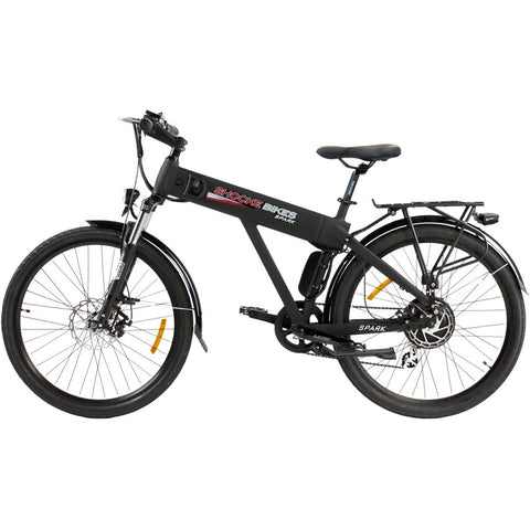 Black Shocke Bikes Spark - Electric Bike - Side View