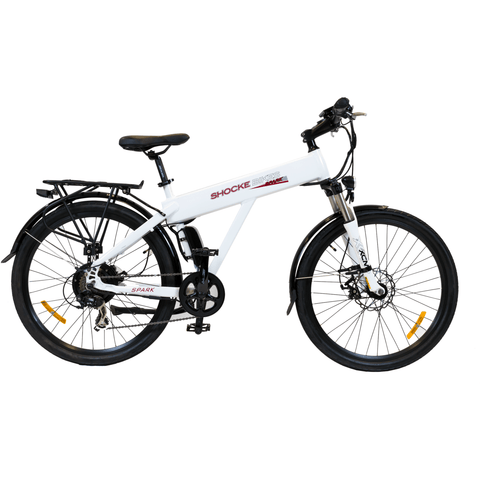 White Shocke Bikes Spark - Electric Bike - Side View