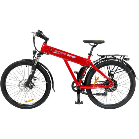 Red Shocke Bikes Spark - Electric Bike - Side View
