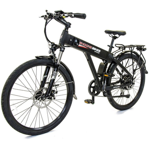 Black Shocke Bikes Spark - Electric Bike - Front View
