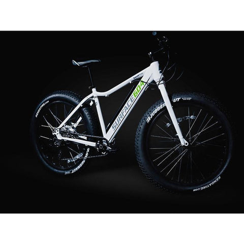 White Surface 604 Boar - Fat Tire Electric Bike - At Night