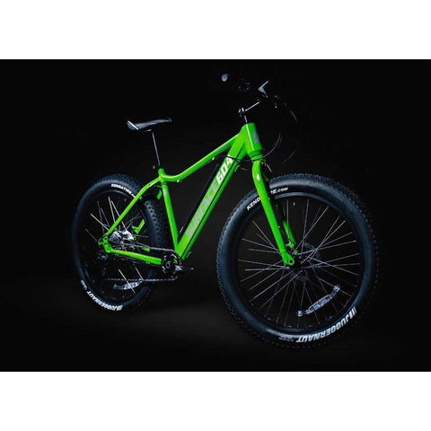 Green Surface 604 Boar - Fat Tire Electric Bike - At Night