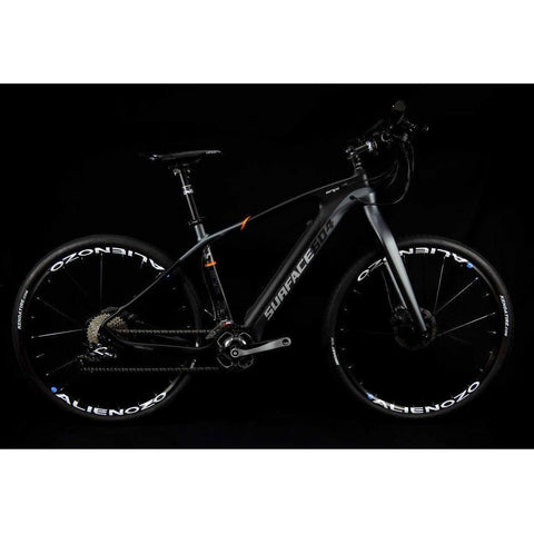 Surface 604 Oryx - Carbon Fiber Commuter Electric Bike - Side View in Dark