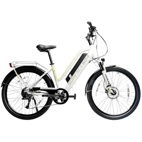 White Surface 604 Rook - Step-through Cruiser Electric Bike - Side View