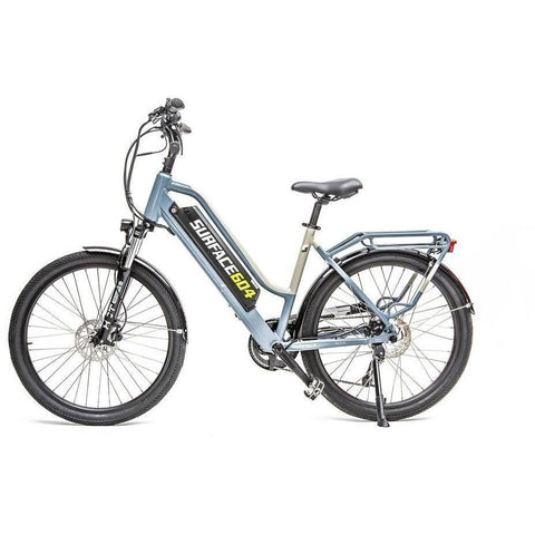 Black Surface 604 Rook - Step-through Cruiser Electric Bike - Side View