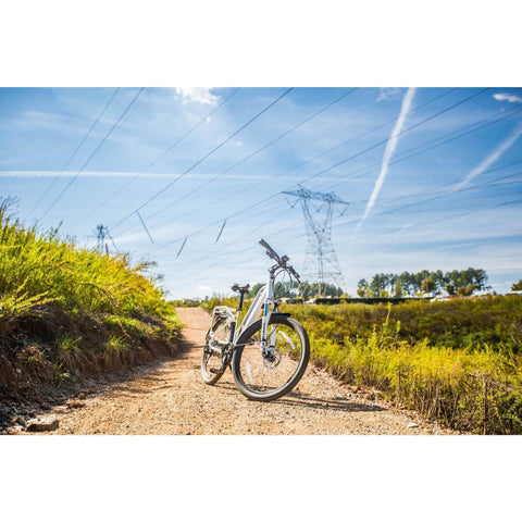 Surface 604 Rook - Step-through Cruiser Electric Bike - On Trail