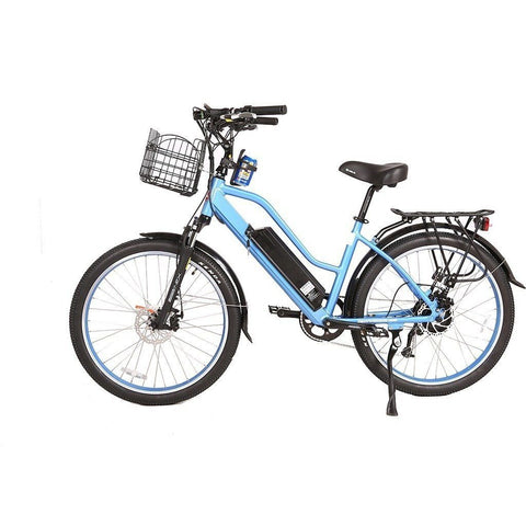 Blue X-Treme Catalina 48V Electric Cruiser Bike - Side View