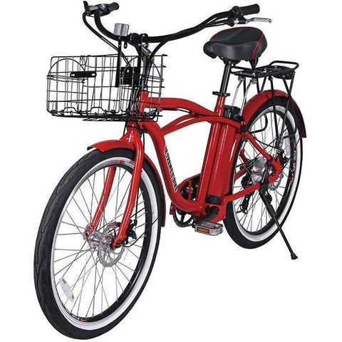 Red X-Treme Newport Electric Cruiser Bike - Front View