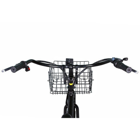 X-Treme Newport Electric Cruiser Bike - Handlebars and basket