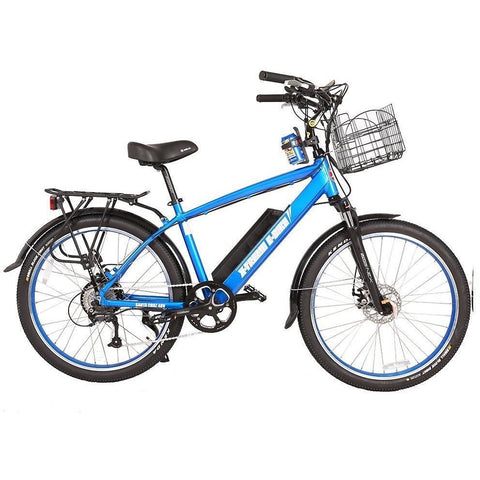 Metallic Blue X-Treme Laguna Beach Cruiser 48V Electric Cruiser Bike - Side View