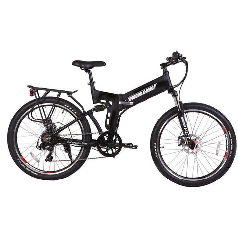 Black X-Treme X-Cursion Elite 36V Folding Electric Mountain Bike - Side View