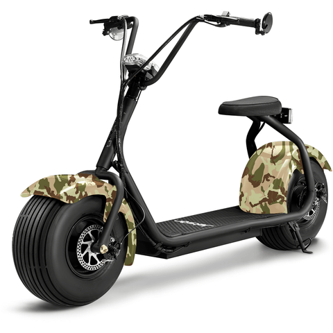 Camo Jetson Electric Scooter - FATBOY - Front View