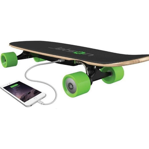 Jetson E-Punk - Electric Skateboard - with iPhone plugged in