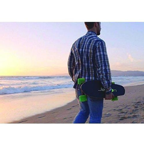 Jetson E-Punk - Electric Skateboard - Being carried on the beach