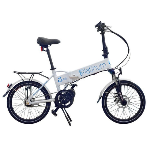 White Platinum e-BIKES 3OND - Folding Electric Bike - Side View