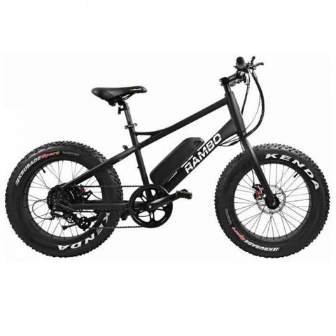 Rambo 350W Junior - Fat Tire Electric Mountain Bike - Side View
