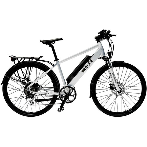 White e-Joe KODA Sports Class - Electric Commuter Bike - Side View