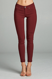 "Better Than Jeans ""Jeggings""--Maroon"