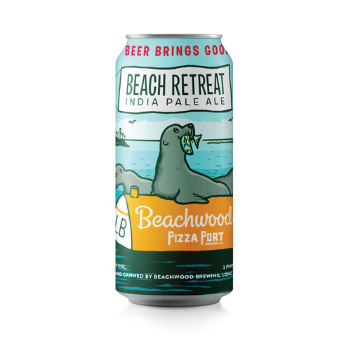 BEACH RETREAT IPA - COLLAB WITH PIZZA PORT -Case - 6 x 4pk 16oz cans