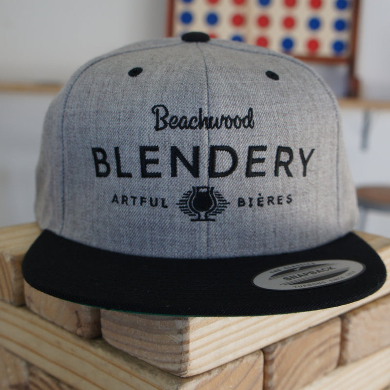 Blendery Black & Grey Snapback Hat