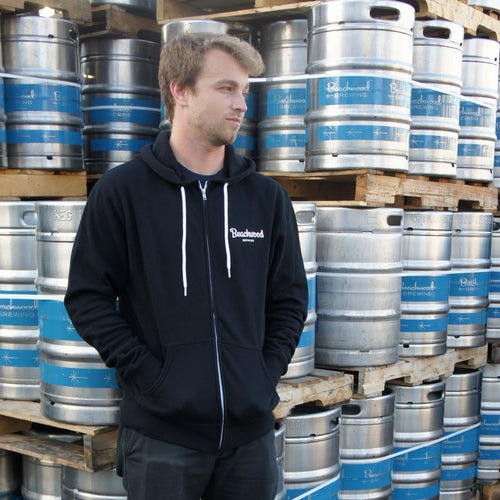 True To Beer Unisex Hooded Sweatshirt in Black