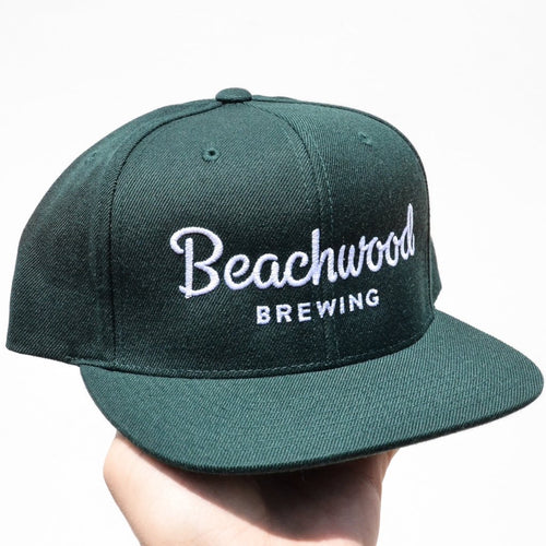 Beachwood Brewing White Logo Snapback in Green