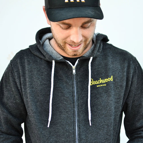 True To Beer Unisex Hooded Sweatshirt in Charcoal Gray
