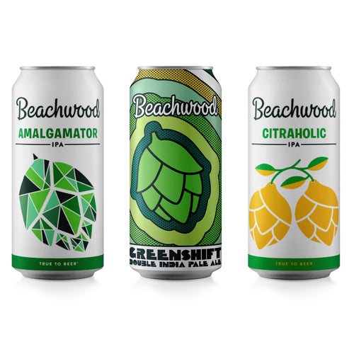 MIXED CASE: Greenshift  + Amalgamator + Citraholic- 6 x 4pk 16oz cans