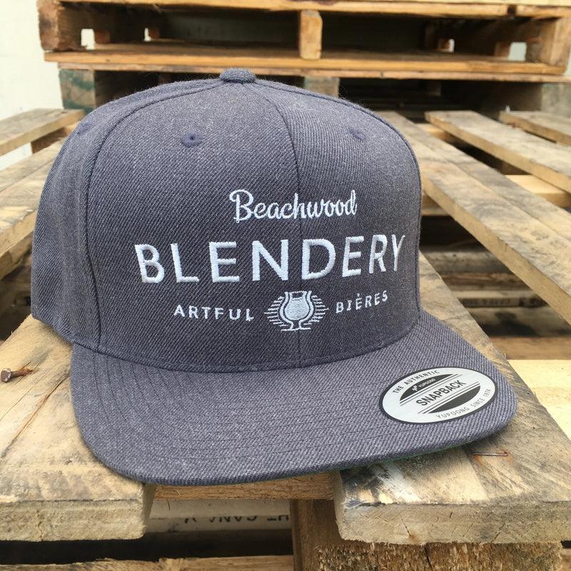 Blendery Snapback in Grey with Silver Logo