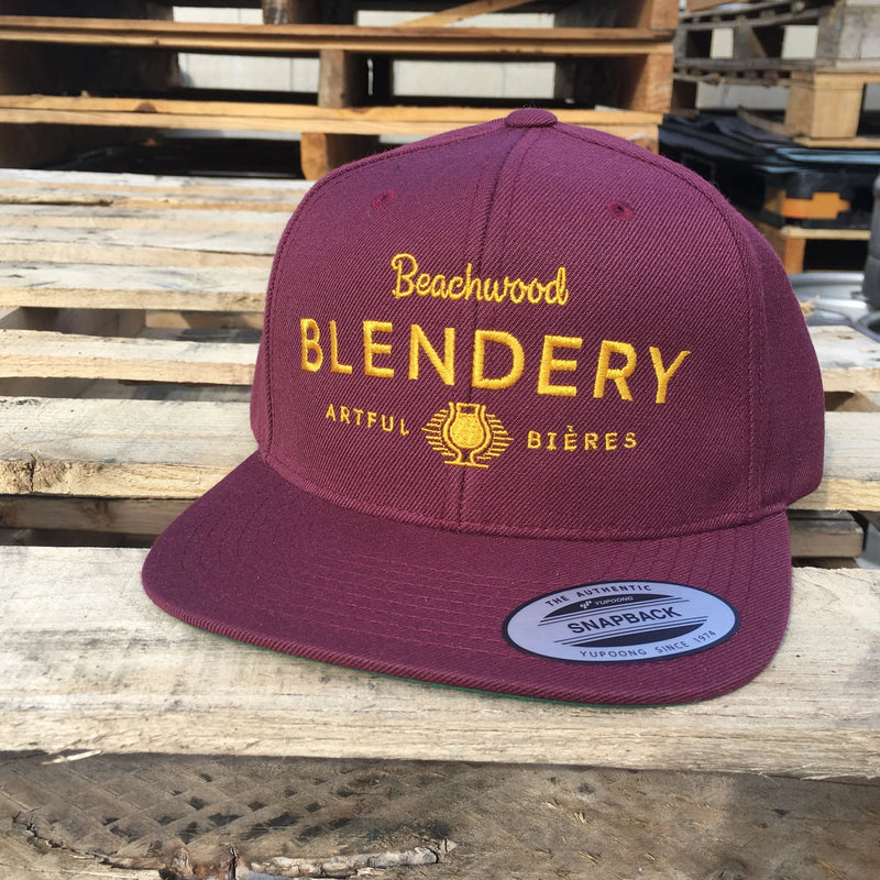 Blendery Maroon and Gold Snapback Hat