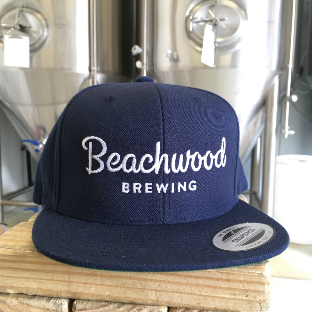 50ec0bc6e83c74 ... 50% off beachwood brewing white logo snapback hat in navy blue e1758  79ce0