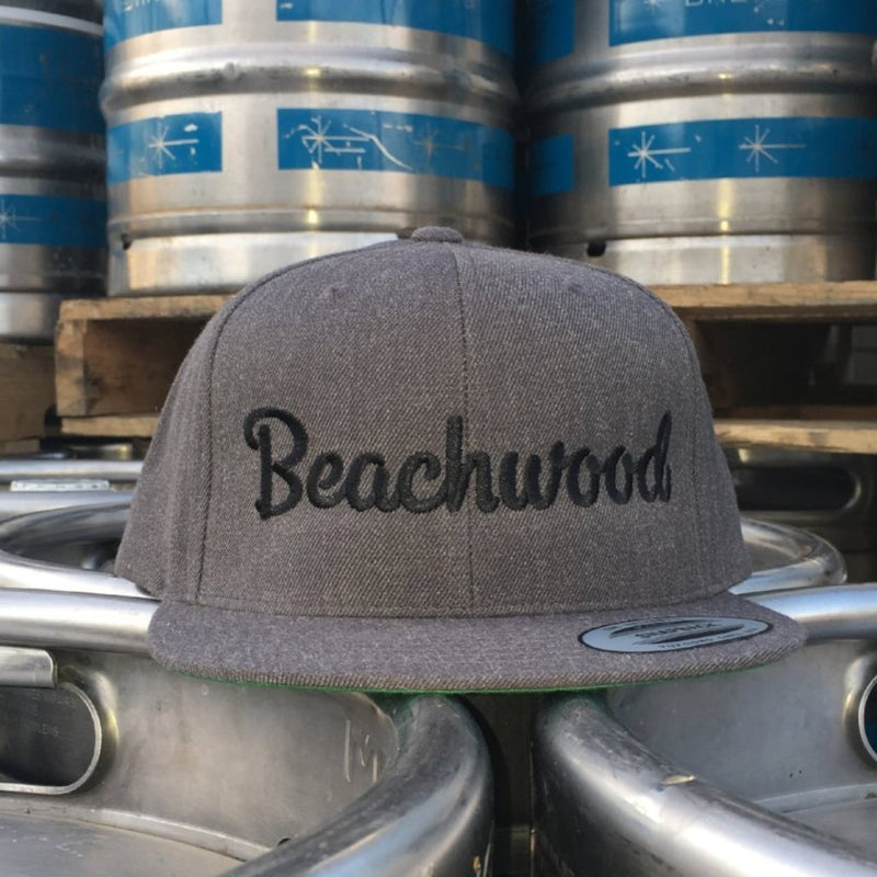 Beachwood Brewing Black Logo Snapback Hat in Grey