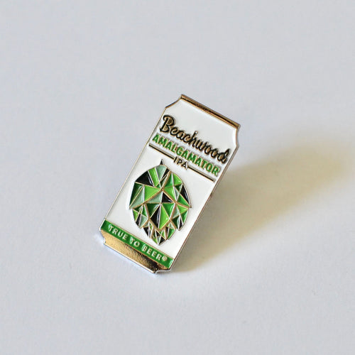 Amalgamator Beer Can Enamel Pin