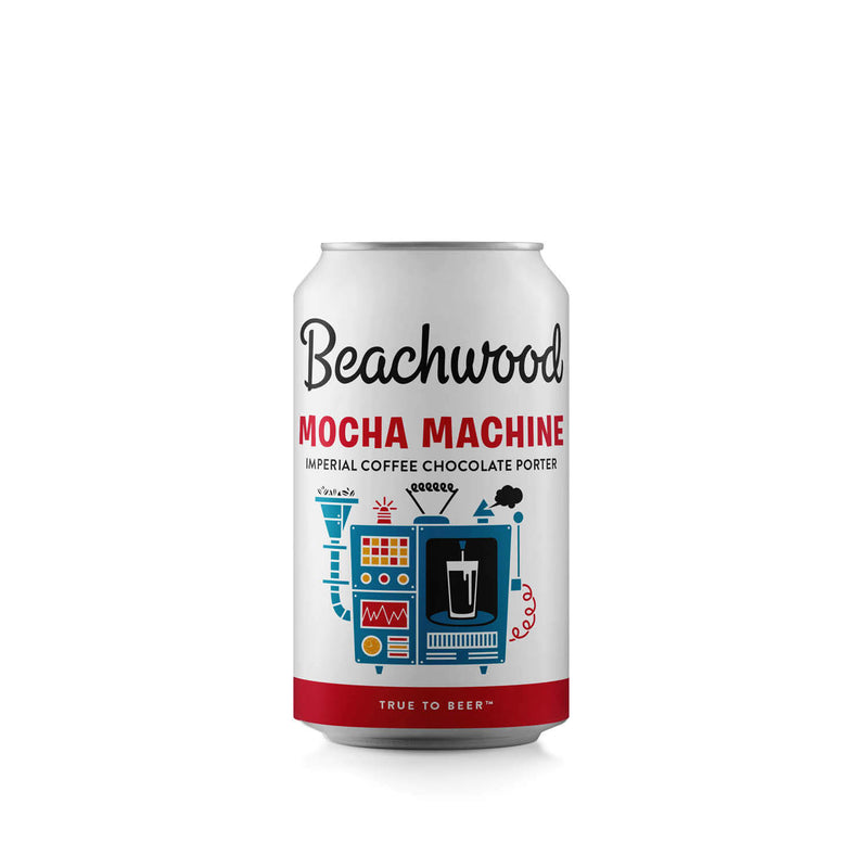 MOCHA MACHINE IMPERIAL COFFEE CHOCOLATE PORTER Case - 6 x 4pk 12oz cans