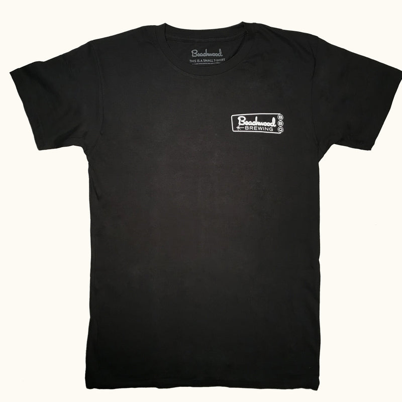 Beachwood Brewing logo t-shirt in Black -front