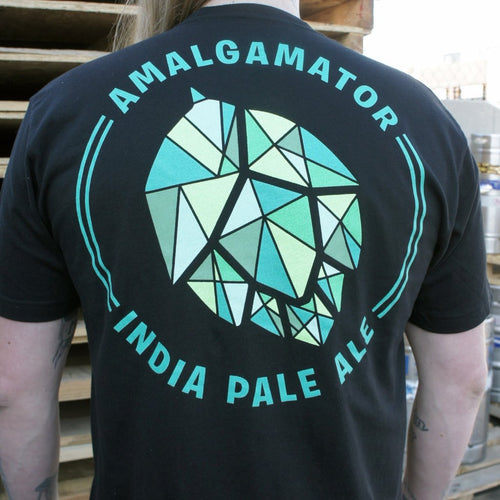 Unisex Amalgamator T-shirt with New Logo and Artwork