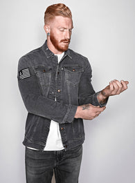 The Denim Jacket Charcoal Gray