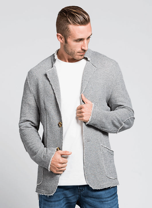 Knit Blazer Quiet (Slate)